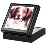 brittany portrait Keepsake Box