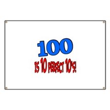 100 is 10 perfect 10 Banner