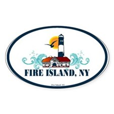 Fire Island Oval Sticker (10 pk)