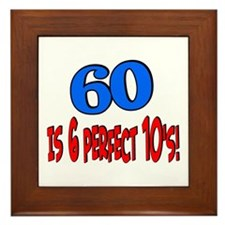 60 is 6 perfect 10s Framed Tile