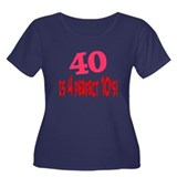 40 is 4 perfect 10s Women's Plus Size Scoop Neck D