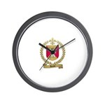 AUCLAIR Family Crest Wall Clock