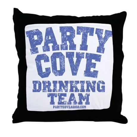 Party Cove-Drinking Team Throw Pillow
