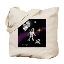 Spacewalking the Dog Tote Bag