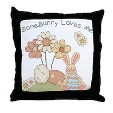 Somebunny Loves Me! Throw Pillow