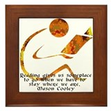 Reader - Golden Quote Framed Tile