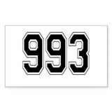 993 Rectangle Sticker 50 pk)