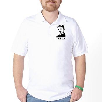 Tesla Golf Shirt   Gifts For A Geek   Geek T-Shirts
