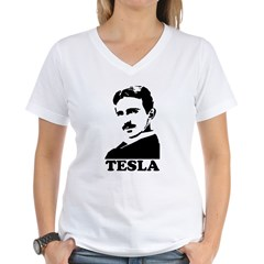 Tesla Women's V-Neck T-Shirt