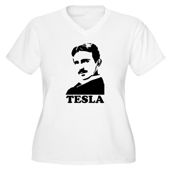 Tesla Women's Plus Size V-Neck T-Shirt | Gifts For A Geek | Geek T-Shirts
