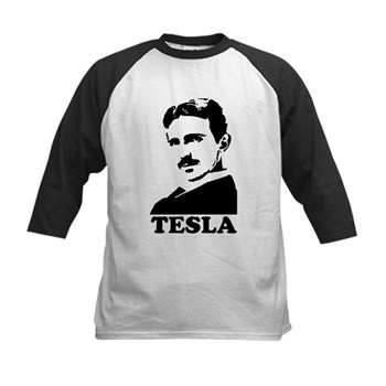 Tesla Kids Baseball Jersey | Gifts For A Geek | Geek T-Shirts