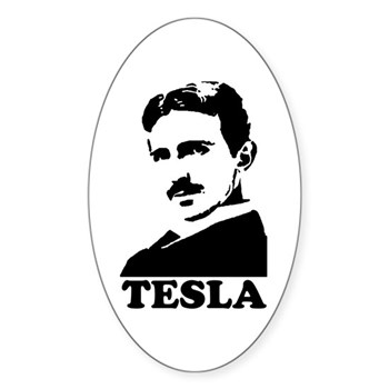 Tesla Oval Sticker | Gifts For A Geek | Geek T-Shirts