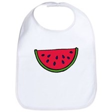 Juicy watermelon slice Bib