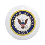 United States Navy Emblem Keepsake (Round)