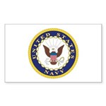 United States Navy Emblem Rectangle Sticker
