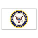 United States Navy Emblem Rectangle Sticker