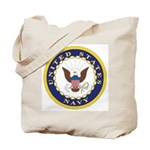 United States Navy Emblem Tote Bag