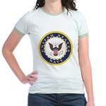 United States Navy Emblem Jr. Ringer T-Shirt