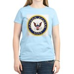 United States Navy Emblem Women's Pink T-Shirt