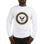 United States Navy Emblem (Front) Long Sleeve T-Sh