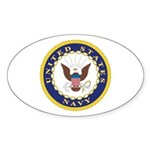 United States Navy Emblem Oval Sticker