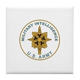 MILITARY-INTELLIGENCE Tile Coaster