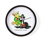 US Navy Freddy & Sammy Wall Clock