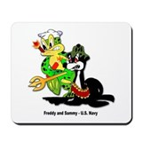 US Navy Freddy & Sammy Mousepad