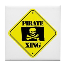 Pirate Xing Tile Coaster