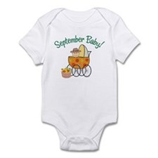 SEPTEMBER BABY! (in stroller) Infant Bodysuit