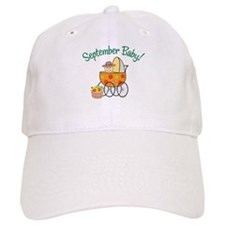SEPTEMBER BABY! (in stroller) Baseball Cap