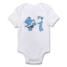 Elephant Karate First Birthday Infant Bodysuit