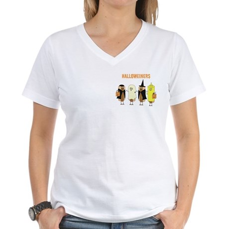Halloweiners Women's V-Neck T-Shirt