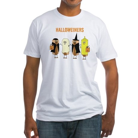 Halloweiners Fitted T-Shirt