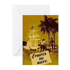 Pirates Dig Booty! Greeting Cards (Pk of 10)