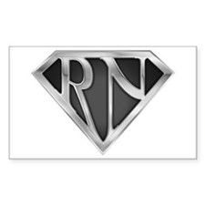 Super RN - Metal Rectangle Decal