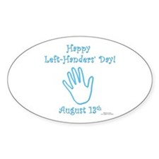 Left Handers' Day Decal