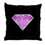 Super RN - Pink Throw Pillow