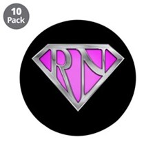 "Super RN - Pink 3.5"" Button (10 pack)"