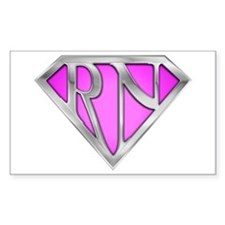 Super RN - Pink Rectangle Decal