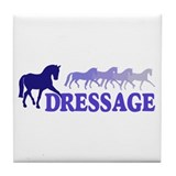 Dressage Horses (blue/purple) Tile Coaster