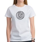 Kennedy Half Dollar Women's white T-Shirt