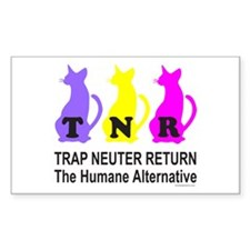 TRAP NEUTER RETURN Rectangle Sticker 10 pk)