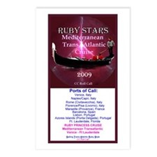 RUBY STARS - Postcards (Package of 8)