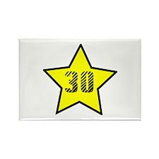 30th Birthday Star Rectangle Magnet