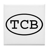 TCB Oval Tile Coaster