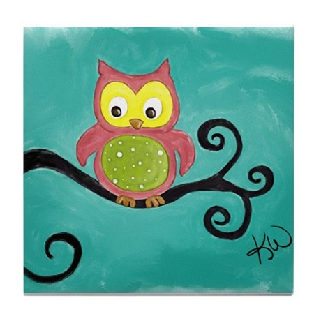 Owl Tile Coaster