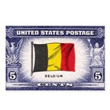 Flag of Belguim Postcards (Package of 8)