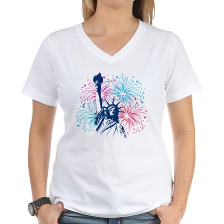 4th Of July Women's V-Neck T-Shirt
