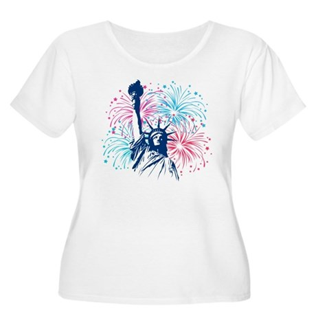 4th Of July Women's Plus Size Scoop Neck T-Shirt